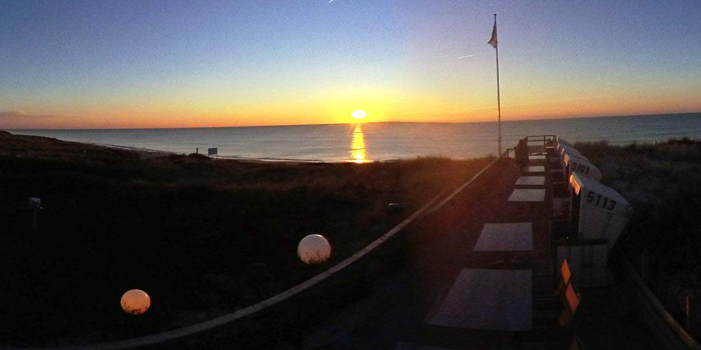 Sonnenuntergang an der Strandoase