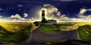 360 Grad Foto vom Leuchtturm Rotes Kliff in Kampen Sylt360